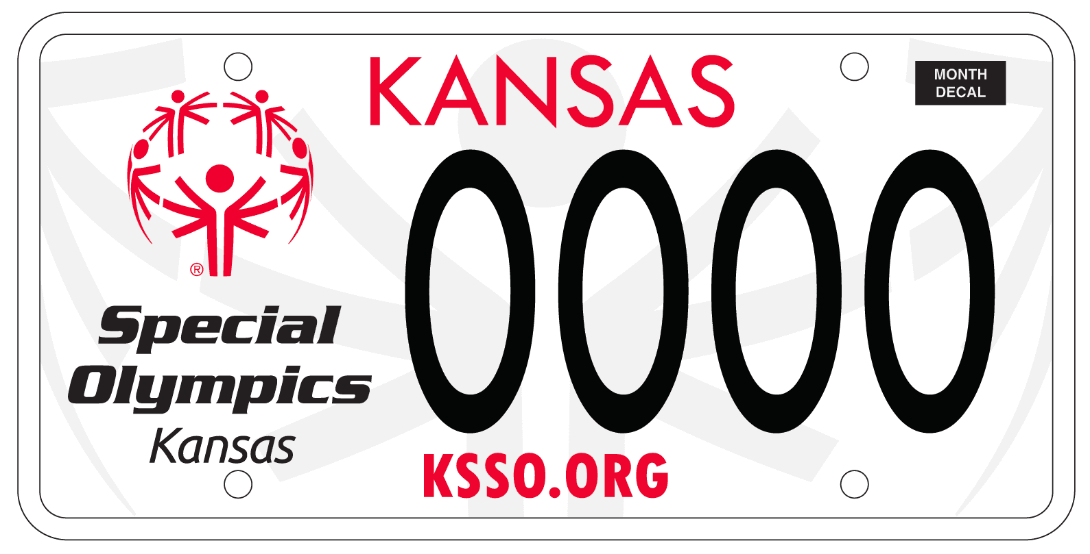 License Plate - Special Olympics